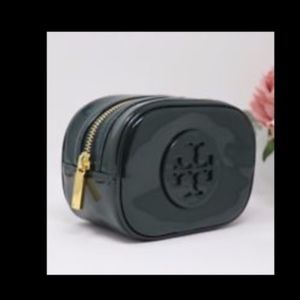 NWT~TORY BURCH~Stacked Patent Leather Cosmetic Bag